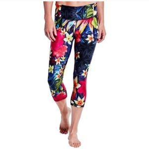 Calia Tropical Floral Print Capri Leggings